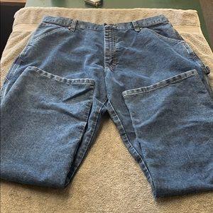Men's wrangler carpenter blue jeans 36 X 30